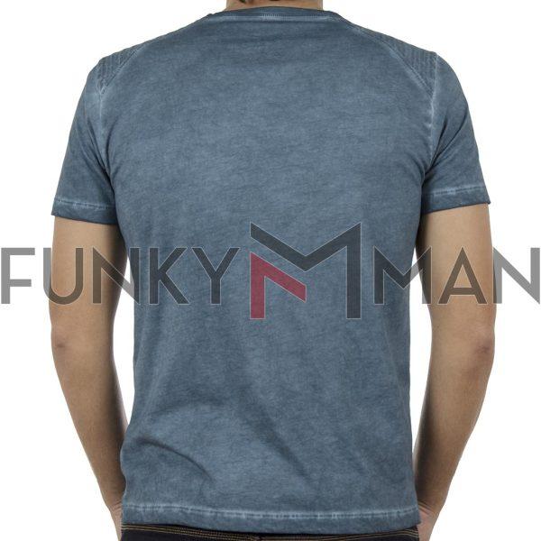 Κοντομάνικη Μπλούζα T-Shirt Back2jeans B52 Petrol