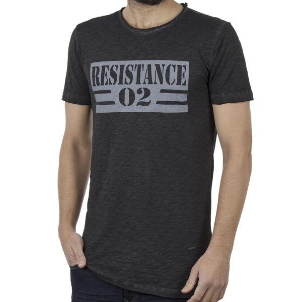 Κοντομάνικη Μπλούζα T-Shirt Back2jeans B8 Ανθρακί
