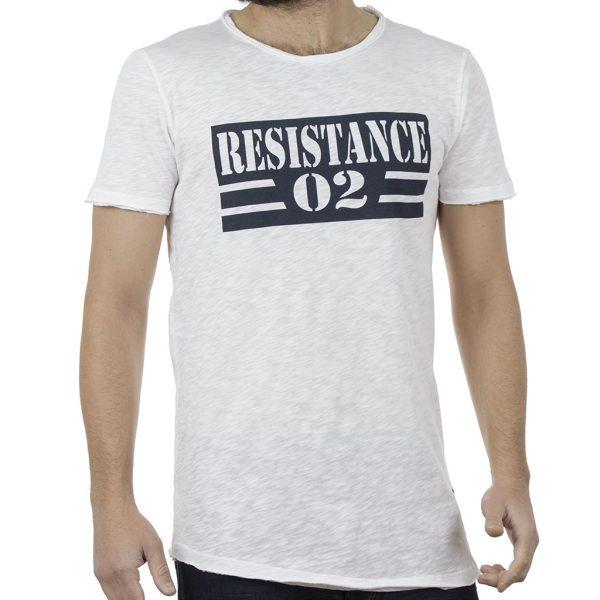 Κοντομάνικη Μπλούζα T-Shirt Back2jeans B8 Λευκό