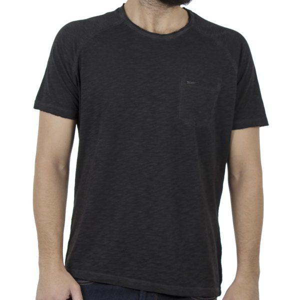Κοντομάνικη Μπλούζα T-Shirt Back2jeans B9 Μαύρο