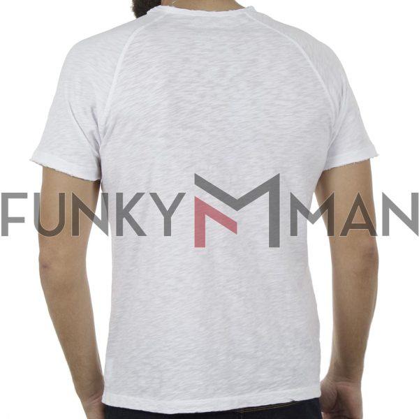 Κοντομάνικη Μπλούζα T-Shirt Back2jeans B9 Λευκό