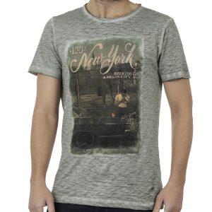 Κοντομάνικη Μπλούζα T-Shirt DAMAGED D13 Pesto