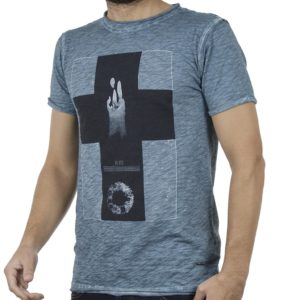 Κοντομάνικη Μπλούζα T-Shirt DAMAGED MD32 Petrol