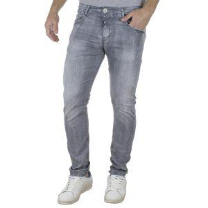 Τζιν Παντελόνι Back2jeans B21 slim fashion Γκρι