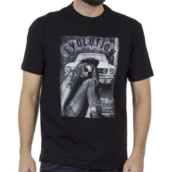 Κοντομάνικη Μπλούζα Pennie T-Shirt CARAG 22-277-19N Μαύρο