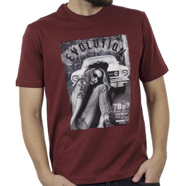 Κοντομάνικη Μπλούζα Pennie T-Shirt CARAG 22-277-19N Κόκκινο