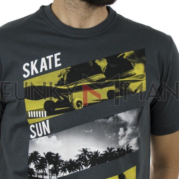 Κοντομάνικη Μπλούζα Pennie T-Shirt CARAG 22-288-19N Ανθρακί