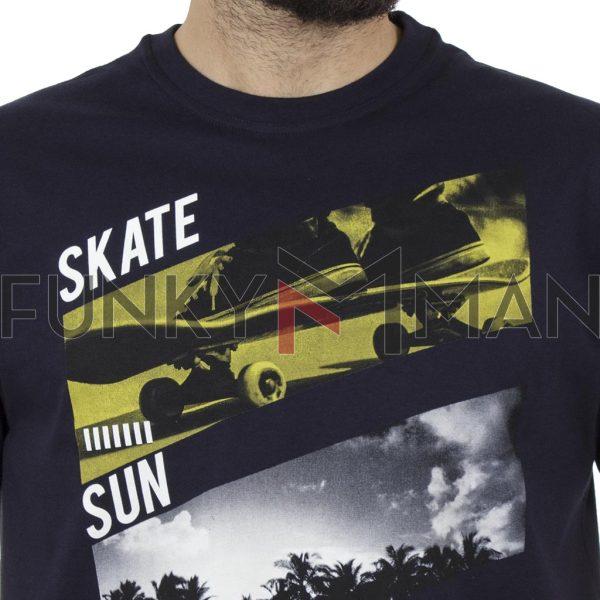 Κοντομάνικη Μπλούζα Pennie T-Shirt CARAG 22-288-19N Navy