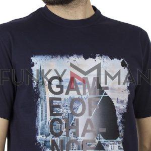Κοντομάνικη Μπλούζα Pennie T-Shirt CARAG 22-333-19N Navy