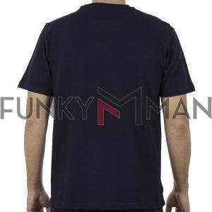 Κοντομάνικη Μπλούζα Pique T-Shirt 220gr CARAG 99-270-19N Navy