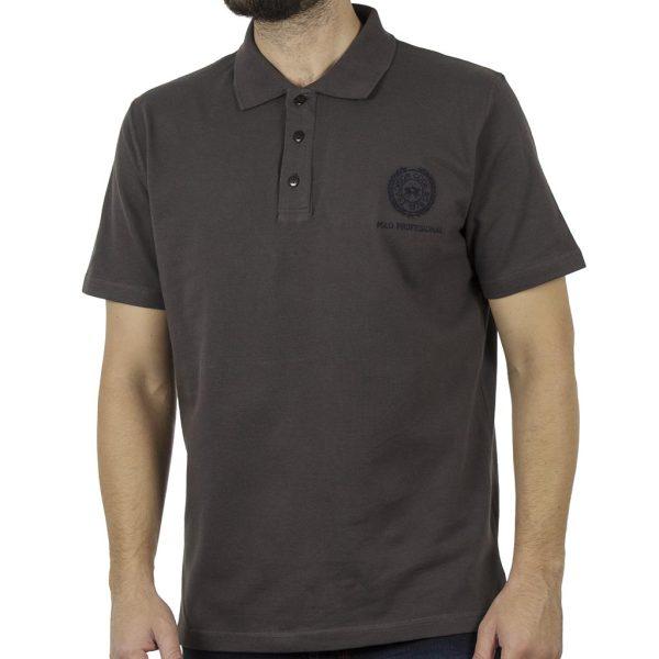 Κοντομάνικη Μπλούζα Polo Pique 220gr CARAG 99-550-19N Ανθρακί