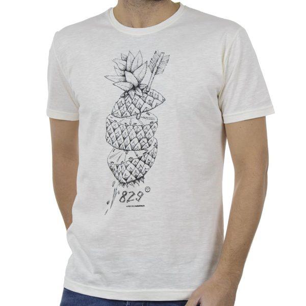 Κοντομάνικη Μπλούζα T-Shirt Cotton4all 19-731 Λευκό