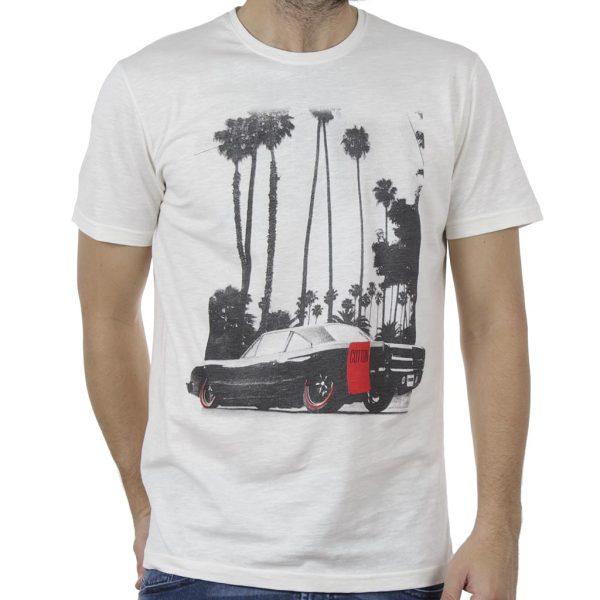 Κοντομάνικη Μπλούζα T-Shirt Cotton4all 19-737 Λευκό