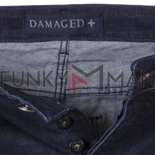 Τζιν Βερμούδα Denim DAMAGED DB64A σκούρο Μπλε