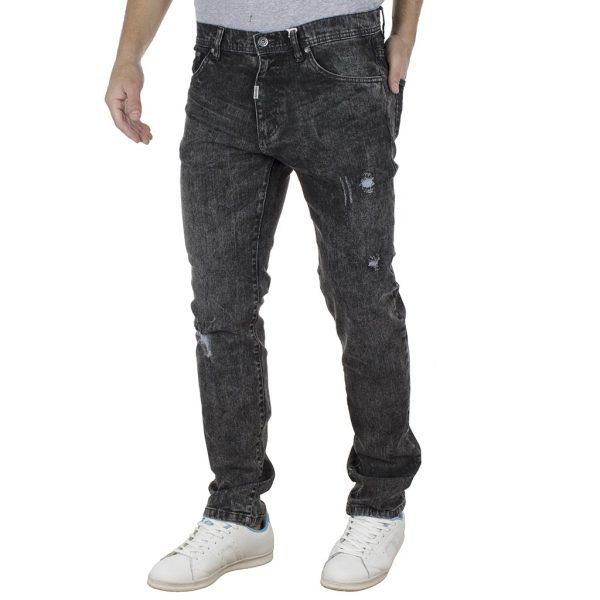 Τζιν Παντελόνι Slim Fit DOUBLE MJP-29 Ανθρακί