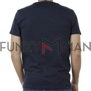 Κοντομάνικη Μπλούζα T-Shirt DOUBLE TS-90 Μπλε