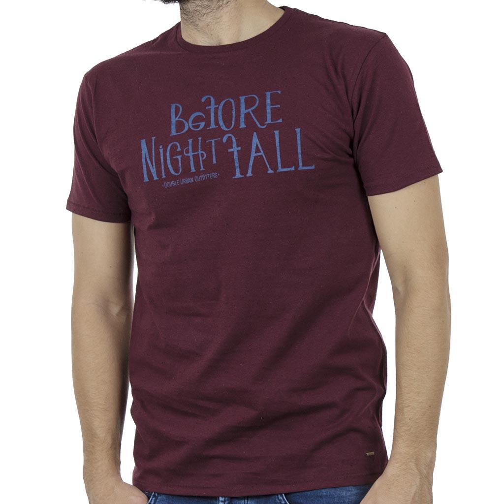 34e8567b860 Κοντομάνικη Μπλούζα T-Shirt DOUBLE TS-90 Μπορντώ