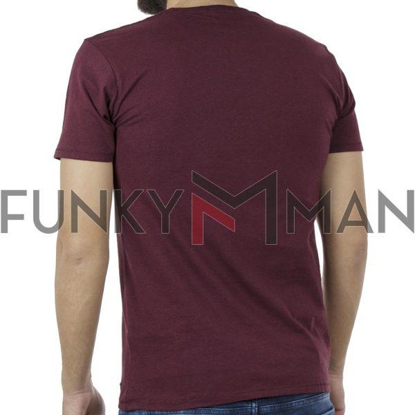 Κοντομάνικη Μπλούζα T-Shirt DOUBLE TS-90 Μπορντώ