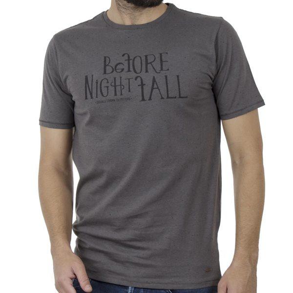 Κοντομάνικη Μπλούζα T-Shirt DOUBLE TS-90 Γκρι