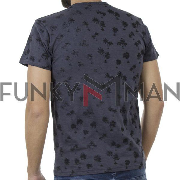 Κοντομάνικο Μπλούζακι Flama All Over Print DOUBLE TS-99 Stone Blue