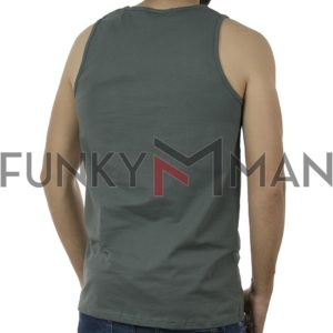 Αμάνικη Μπλούζα Sleeveless Tank Top DOUBLE TSL-3 Pesto