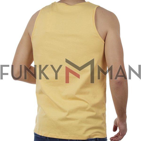 Αμάνικη Μπλούζα Sleeveless Tank Top DOUBLE TSL-4 Κίτρινο