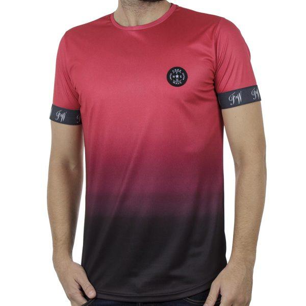 Κοντομάνικη Μπλούζα Fashion T-Shirt FREE WAVE 91115 Κόκκινο
