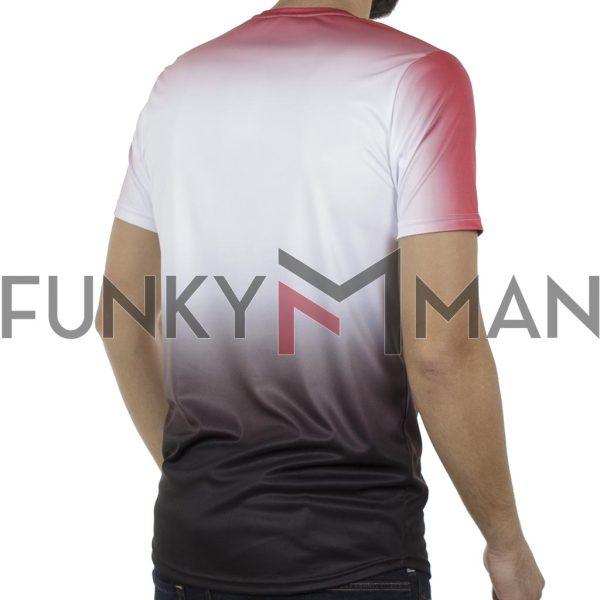 Κοντομάνικη Μπλούζα Fashion T-Shirt FREE WAVE 91121 Κόκκινο