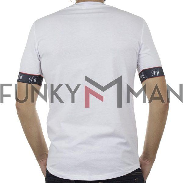 Κοντομάνικη Μπλούζα T-Shirt FREE WAVE 91122 Λευκό