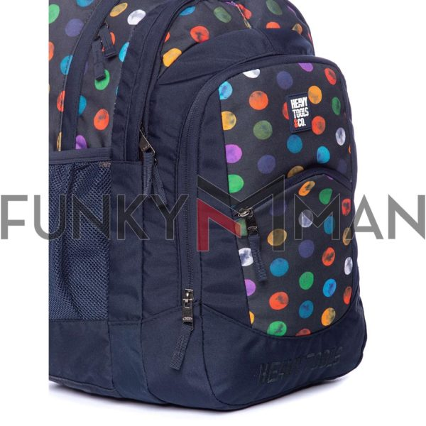 Σακίδιο Πλάτης All Over Print Backpack HEAVY TOOLS EMOXO Μπλε