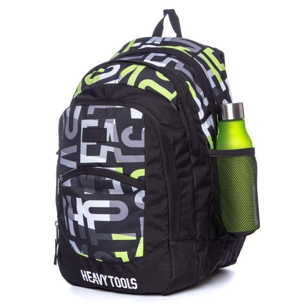 Σακίδιο Πλάτης All Over Print Backpack HEAVY TOOLS EMOXO Μαύρο