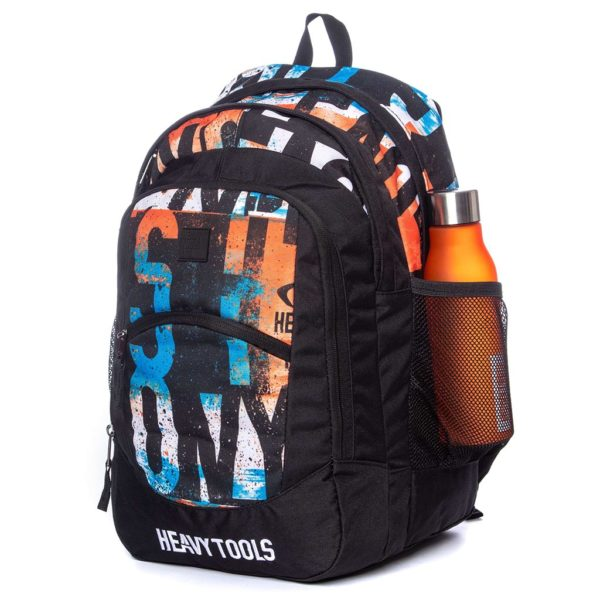 Σακίδιο Πλάτης All Over Print Backpack HEAVY TOOLS EMOXO Μαύρο
