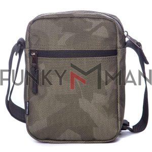 Τσάντα Ώμου Crossbody HEAVY TOOLS ETORP19 παραλλαγή Χακί