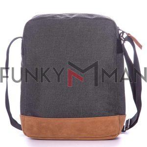 Τσάντα Ώμου Crossbody HEAVY TOOLS EVAN19 Ανθρακί
