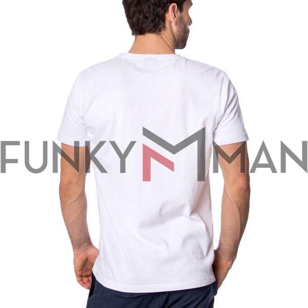 Κοντομάνικη Μπλούζα Single Jersey T-Shirt HEAVY TOOLS MONUMENT Λευκό