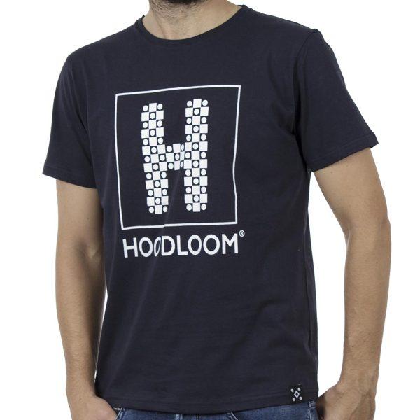Κοντομάνικη Μπλούζα Jersey T-Shirt HOODLOOM HSB-1-12 Navy