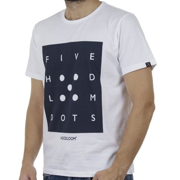 Κοντομάνικο T-Shirt HOODLOOM Five Hoodloom Dots HSB-1-17 Λευκό