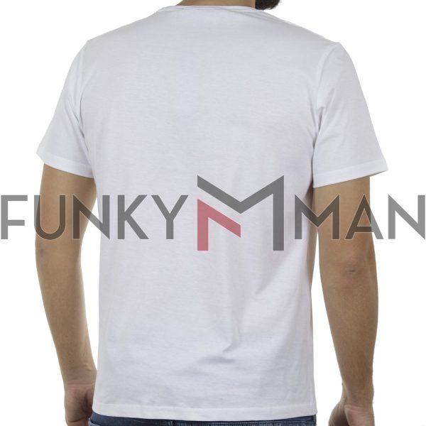 Κοντομάνικο T-Shirt HOODLOOM Five Hoodloom Dots HSB-1-17 Λευκό