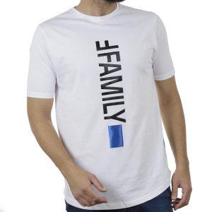 Κοντομάνικη Μπλούζα T-Shirt MESH&CO Ffamily 01-270 Λευκό
