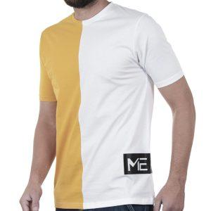 Κοντομάνικη Μπλούζα T-Shirt MESH&CO Half Motif 01-265 Κίτρινο