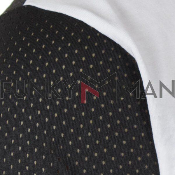 Κοντομάνικη Μπλούζα T-Shirt MESH&CO Love Save 01-271 Λευκό