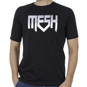 Κοντομάνικη Μπλούζα T-Shirt MESH&CO Mesh Trible 01-261 Μαύρο