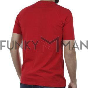 Κοντομάνικη Μπλούζα T-Shirt MESH&CO Mesh Trible 01-261 Κόκκινο