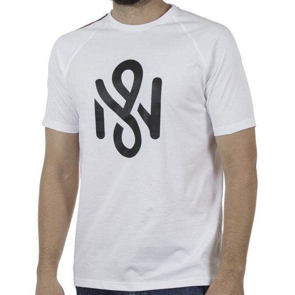 Κοντομάνικη Μπλούζα T-Shirt MESH&CO Stripe Back 01-262 Λευκό