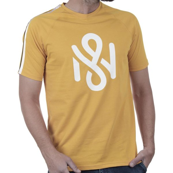 Κοντομάνικη Μπλούζα T-Shirt MESH&CO Stripe Back 01-262 Κίτρινο