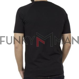 Κοντομάνικη Μπλούζα T-Shirt PONTEROSSO 19-1025 BOOM Μαύρο