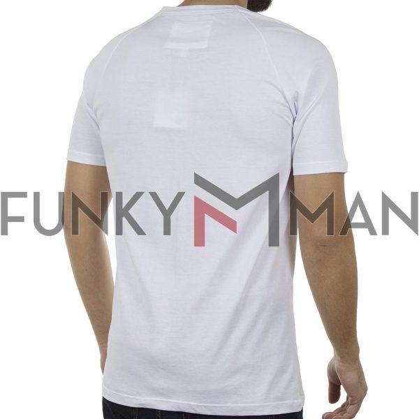 Κοντομάνικη Μπλούζα T-Shirt PONTEROSSO 19-1025 BOOM Λευκό