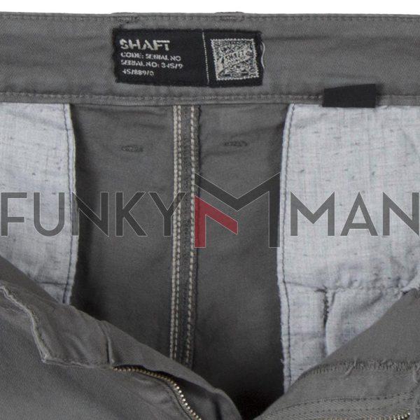 Chinos Υφασμάτινο-Βαμβακερό Παντελόνι SHAFT C5581 Γκρι