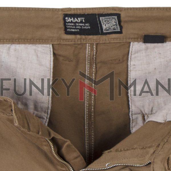 Chinos Υφασμάτινο-Βαμβακερό Παντελόνι SHAFT C5581 Taba Καφέ