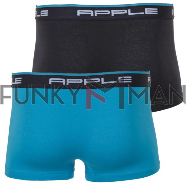 Εσώρουχο Boxer APPLE 0112934 Σετ 2 τεμ. Μαύρο & Petrol